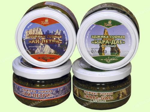 Натуральная аджика с Крымских гор