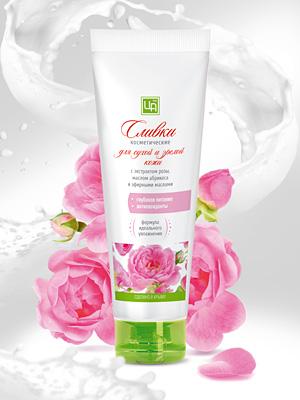 """Долина Роз"" - сливки косметические для сухой и зрелой кожи 80 гр. Царство Ароматов"