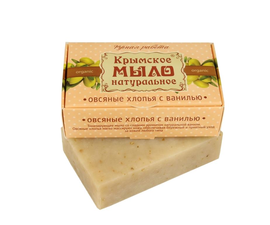 """Мыло натуральное olive """"Овсяные хлопья с ванилью"""" 50 гр."""