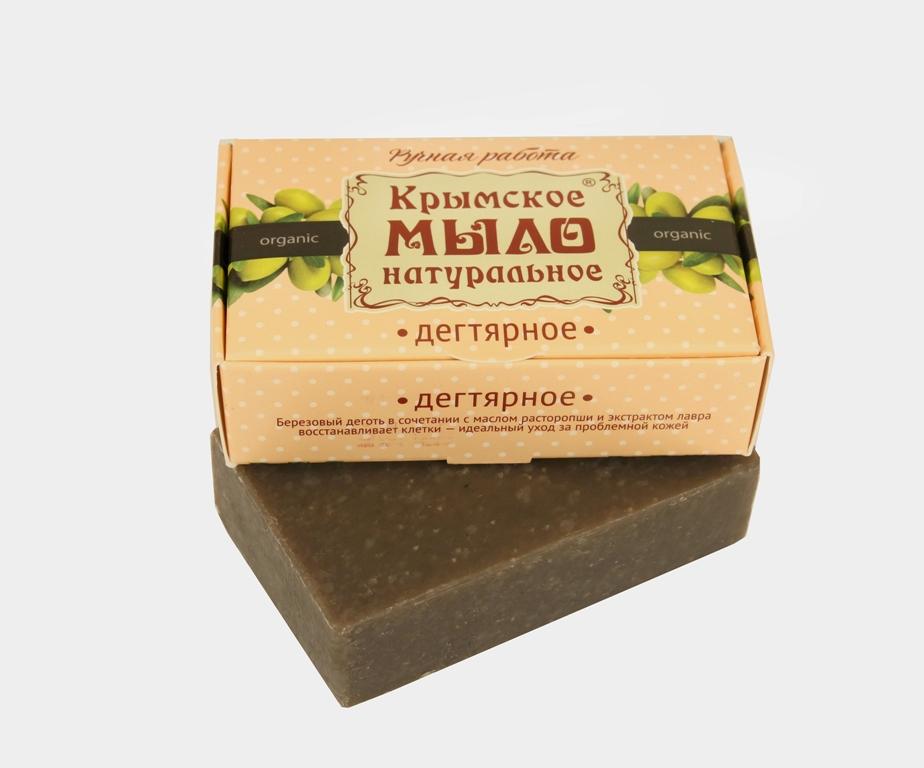 """Мыло натуральное olive """"Дегтярное""""  для проблемной кожи 50 гр."""