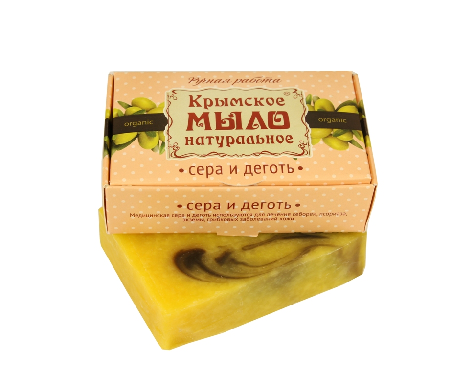 """Мыло натуральное olive """"Сера и деготь"""" 100 гр."""