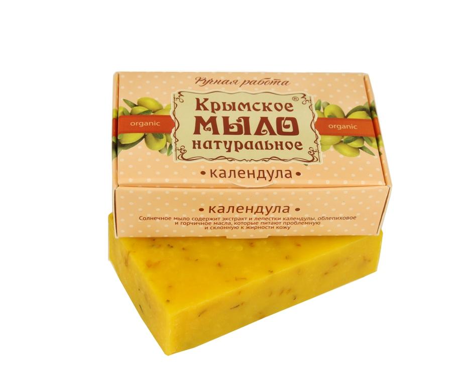 """Мыло натуральное olive """"Календула"""" для нормальной и жирной кожи 50 гр."""
