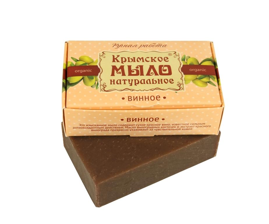 """Мыло натуральное olive """"Винное"""" для чувствительной кожи 50 гр."""