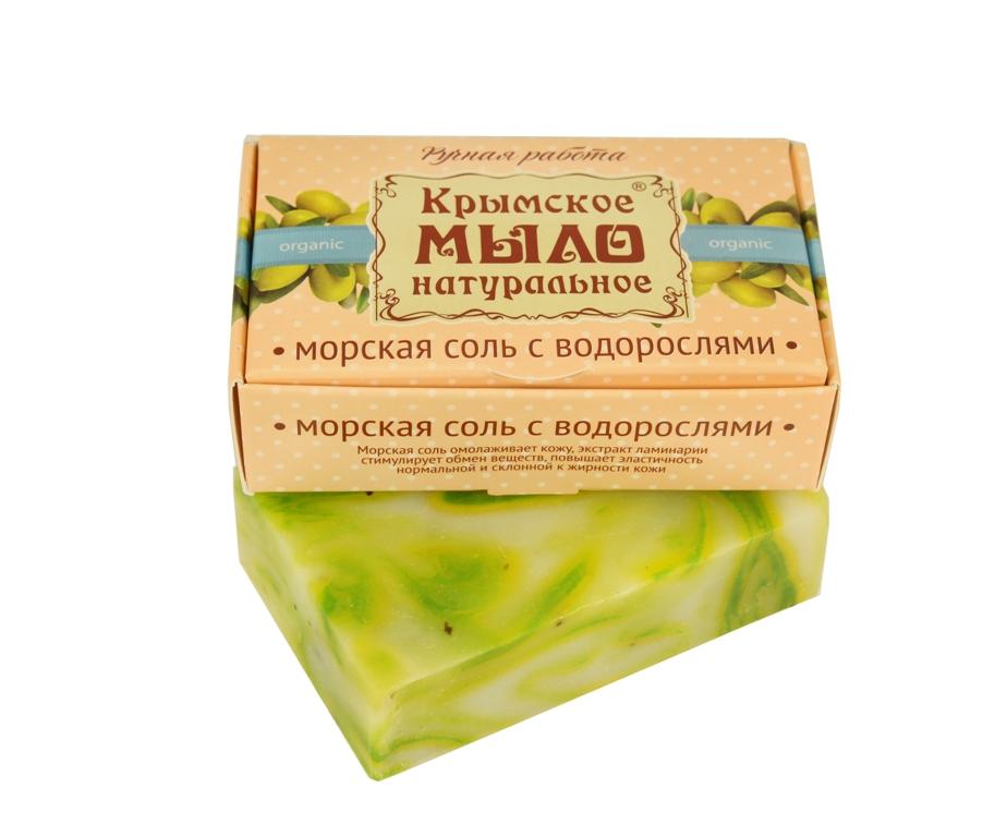 """Мыло натуральное olive """"Морская соль с водорослями"""" для нормальной и жирной кожи 50 гр."""