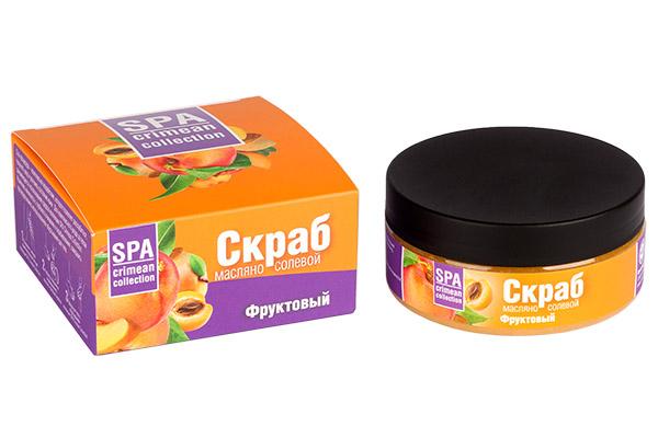 Скраб масляно-солевой Фруктовый (витаминный) 250 гр.