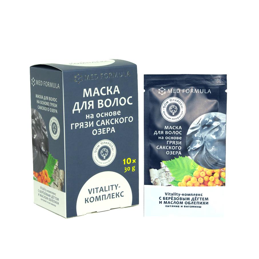 Маска для волос на основе Сакского озера - Vitality-комплекс: питание и витамины 1 саше-пакет, 30 гр.