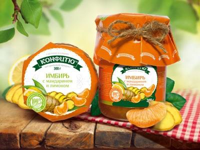 Варенье из имбиря с апельсином и лимоном 340 гр. Царство Ароматов