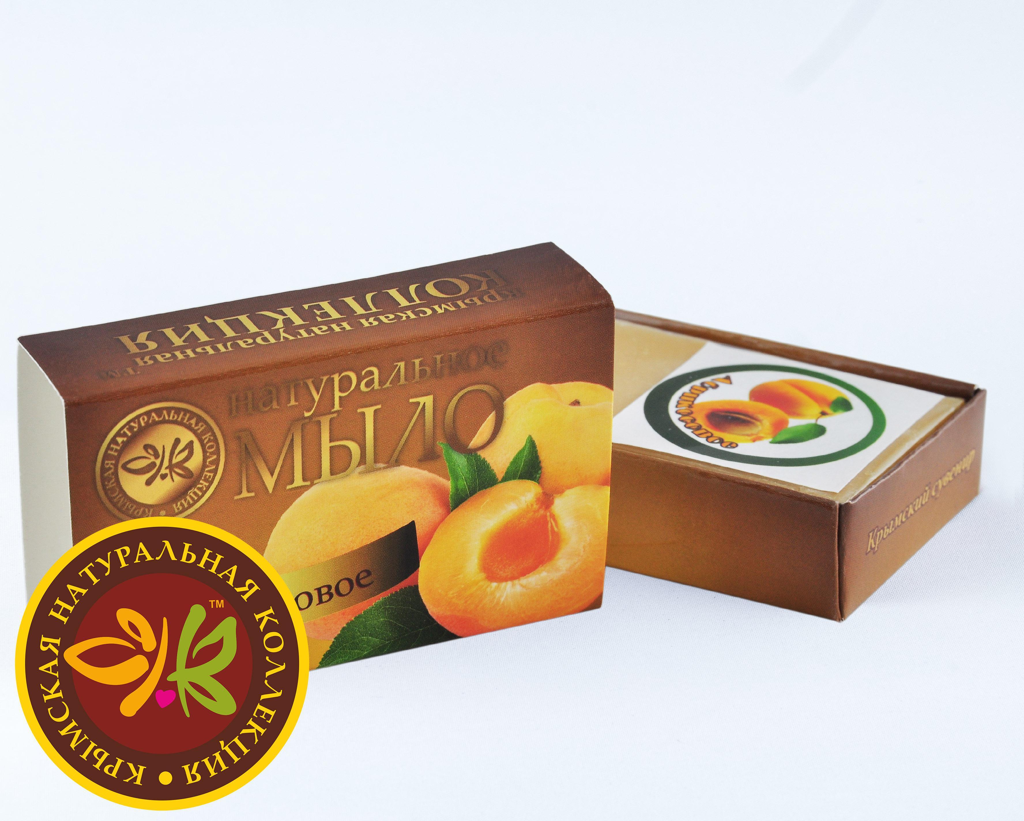 """Натуральное фруктовое мыло """"Абрикосовое"""" 75 гр."""