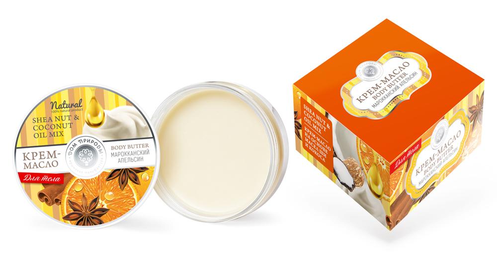 Крем-масло для тела «Марокканский апельсин» 100 гр. Дом Природы