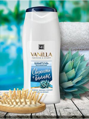 Безсульфатный шампунь с соком агавы для волос, жирных у корней и сухих на концах 350 гр.