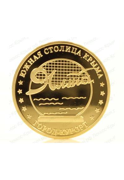 Сувенирная монета Ялта ∅ 40 мм. вес 30 гр.