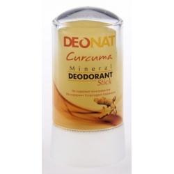 Натуральный минеральный дезодорант Кристалл стик с Куркумой и глицерином 60 гр. DeoNat