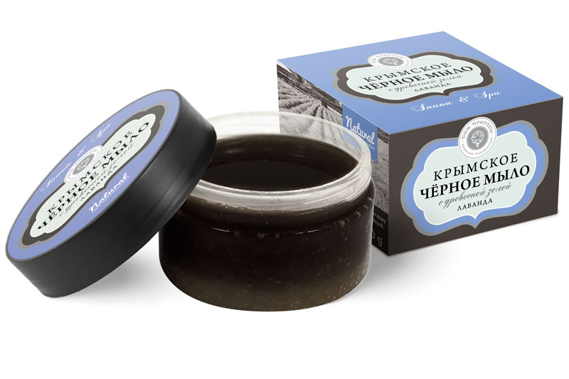 Чёрное мыло Лаванда 270 гр.