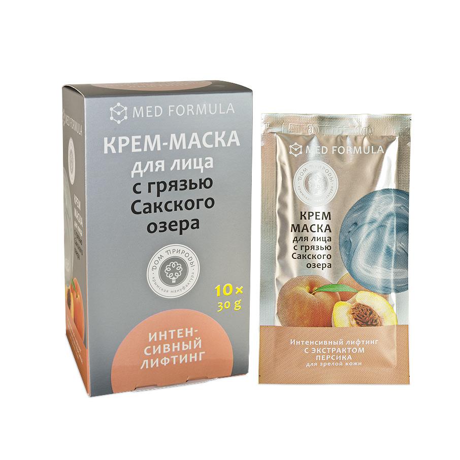 """Крем-маска для лица """"Интенсивный лифтинг"""" для зрелой кожи с грязью Сакского Озера 1 саше пакет 30 гр."""