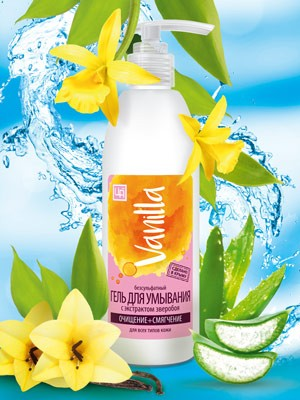 Гель для умывания Vanilla безсульфатный с экстрактом зверобоя 350 гр.
