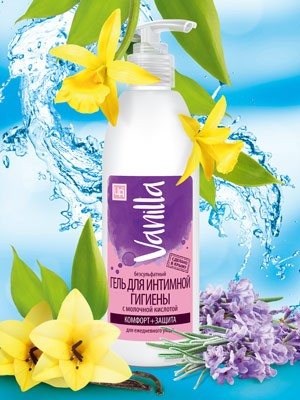 Гель для интимной гигиены Vanilla с молочной кислотой 350 гр.