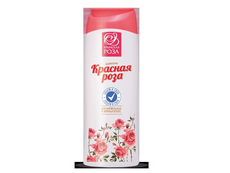 """Шампунь для нормальных и жирных волос """"Красная Роза"""" Объем и сила 250 мл."""