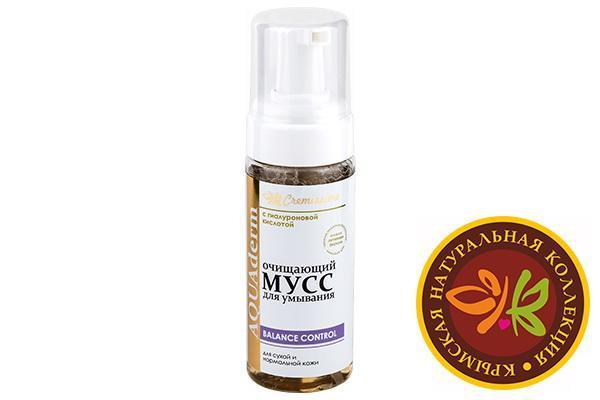 Очищающий мусс для умывания для сухой и нормальной кожи 150 мл.
