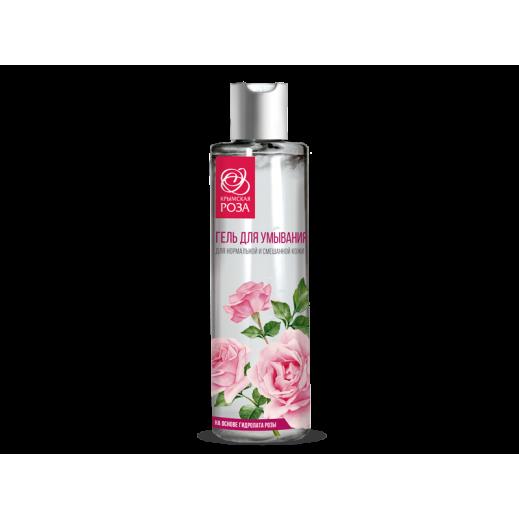 Гель для умывания для нормальной и смешанной кожи на гидролате розы 200 мл.