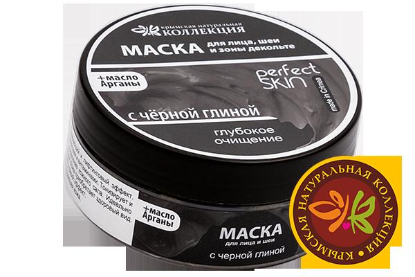 Маска для лица, шеи и зоны декольте с черной глиной. Глубокое Очищение 150 гр.