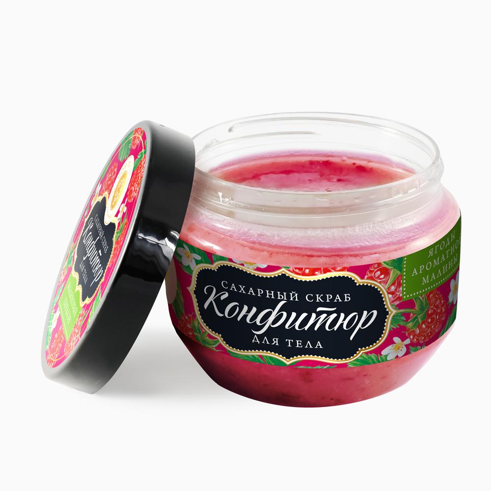 """Сахарный скраб для тела Конфитюр """"Малиновый Соблазн"""" 250 гр."""