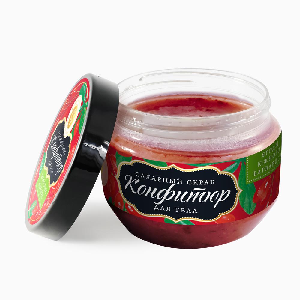 """Сахарный скраб для тела Конфитюр """"Ароматный Барбарис"""" 250 гр."""