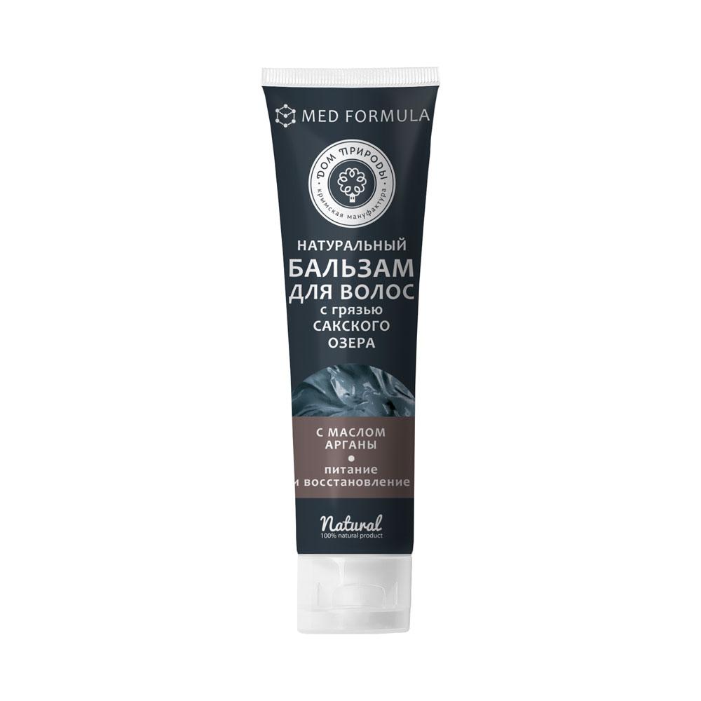 """Натуральный бальзам для волос с грязью Сакского озера """"Питание и восстановление"""" с маслом арганы 150 гр."""