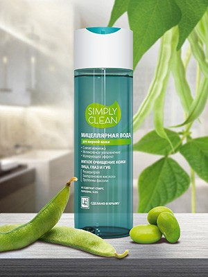Мицеллярная вода «Simply Clean» для жирной кожи 200 мл.