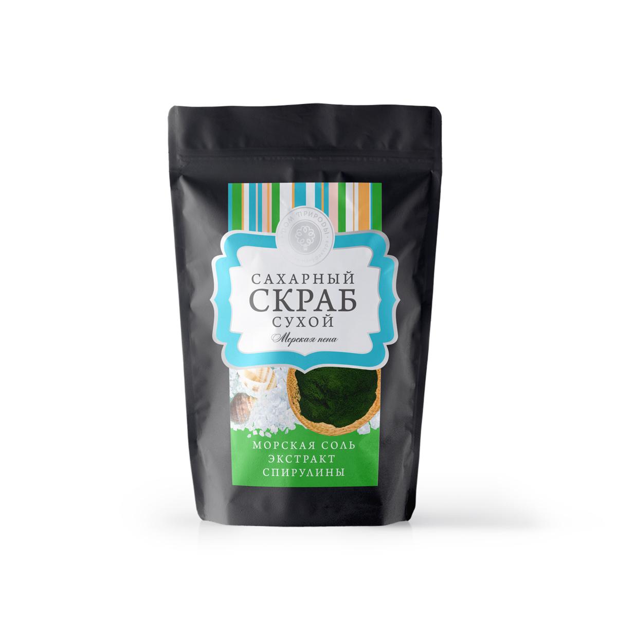 "Сухой сахарный скраб для тела ""Морская пена"" 250 гр."