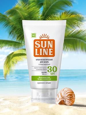 Крем солнцезащитный SPF 30 Sunline 140 гр.