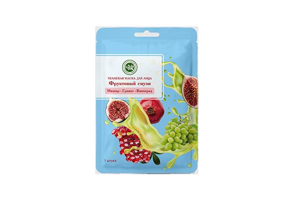 Тканевая маска для лица фруктовый смузи Виноград+Инжир+Гранат