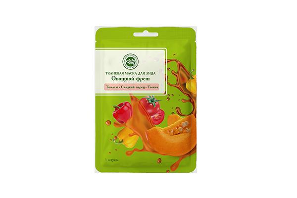 Тканевая маска для лица Овощной фреш Томаты+Сладкий перец+Тыква
