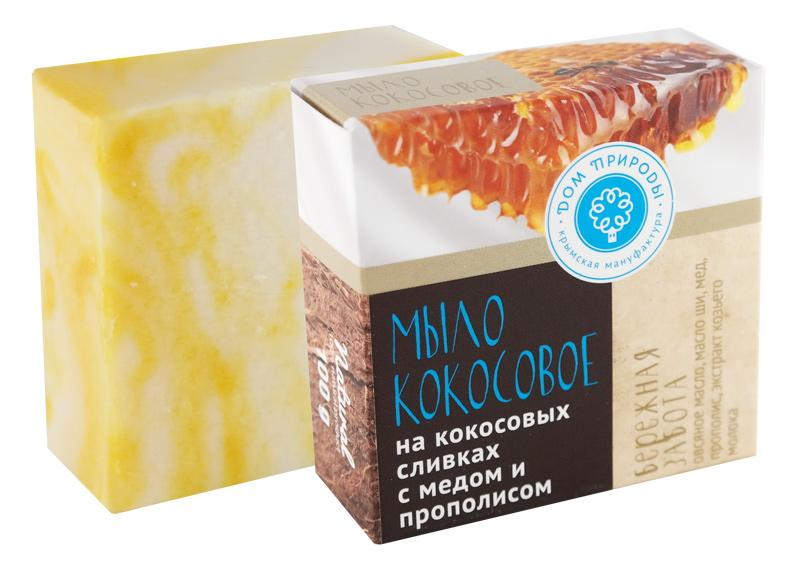 Кокосовое мыло Бережная забота 100 гр.