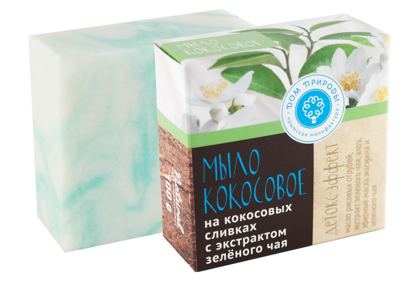 Кокосовое мыло Детокс-эффект 100 гр.