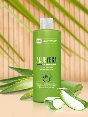Тоник противовоспалительный «Aloe Vera» для чувствительной и проблемной кожи 200 гр.