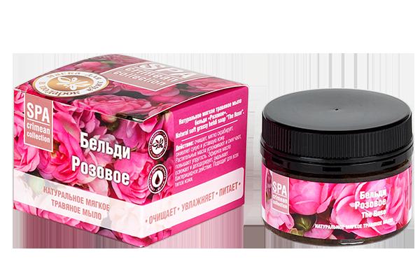 Мягкое травяное мыло Розовое 120 гр.