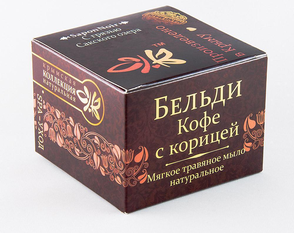 Мягкое травяное мыло Кофе с корицей 120 гр.