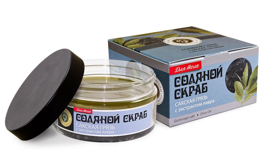 Соляной скраб Сакская Грязь 300 гр.