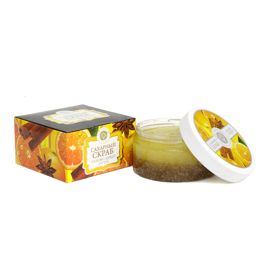 Сахарный Скраб Апельсин с Корицей 300 гр.