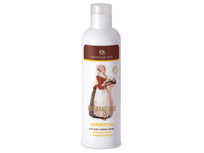 Шампунь Шоколадница для всех типов волос увлажняющий с кондиционером 250 мл. Крымская Роза