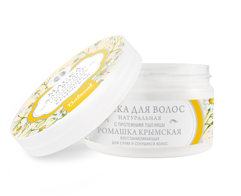 Маска для волос Ромашка восстанавливающая для сухих и секущихся волос 250 гр.