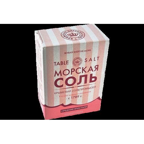 Крымская Розовая морская соль 800 грамм