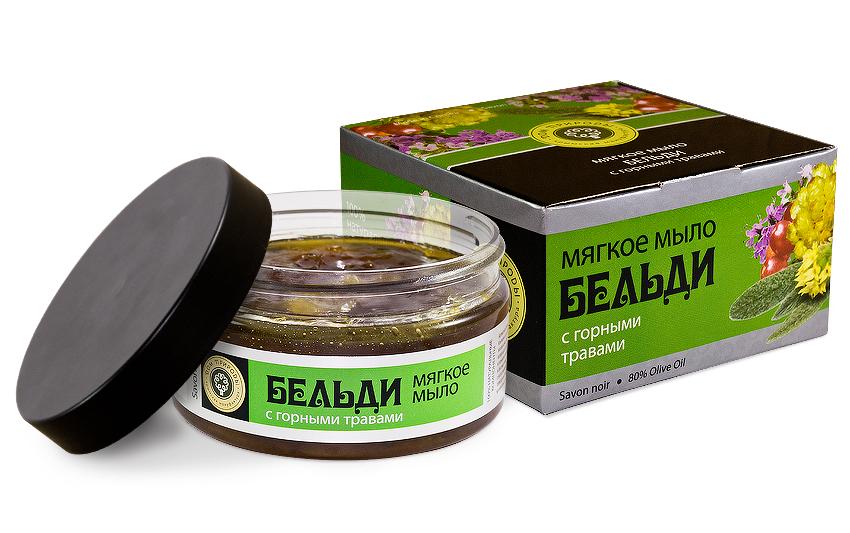 Мыло-скраб бельди с Горными травами 200 мл.