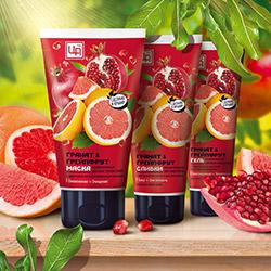 'Гранат & Грейпфрут - витаминная серия для всех типов кожи с антиоксидантным, омолаживающим и выравнивающим действием